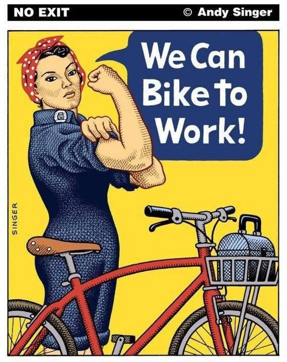 We can bike to work...