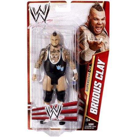 WWE Wrestling Basic Series 27 Brodus Clay Action Figure, Multicolor