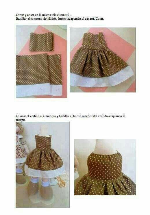 DIY vestido para muñecas
