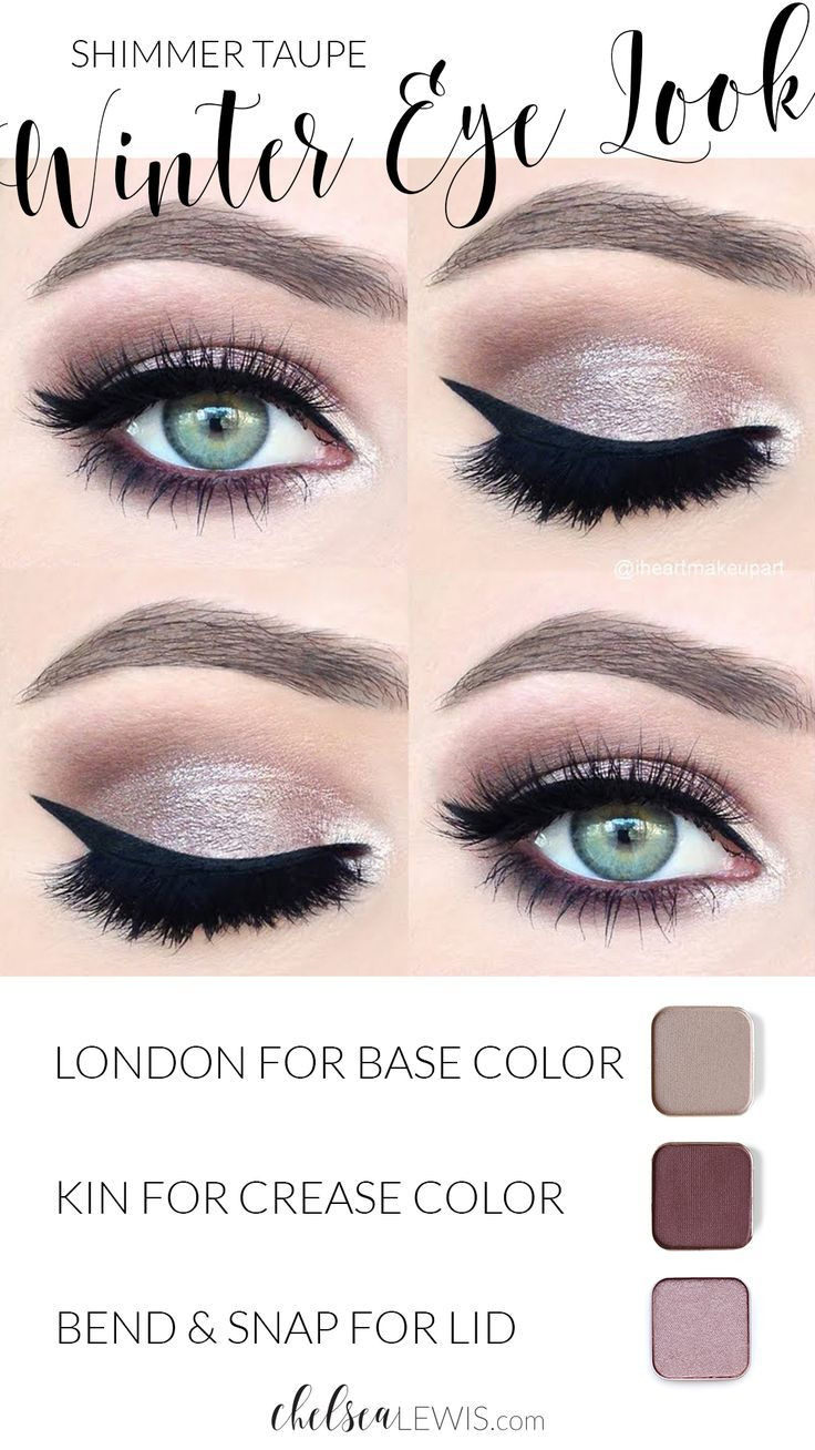 Shimmer Taupe Winter Eyeshadow Look Maskcara makeup