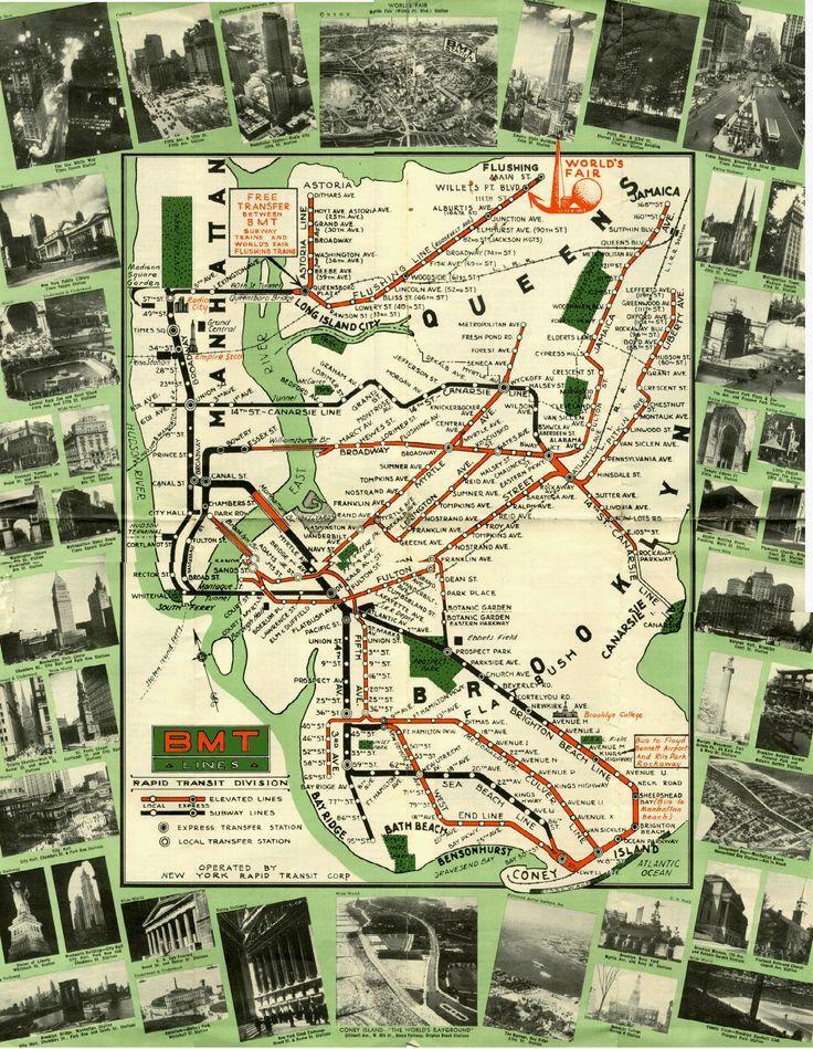 wwwnycsubwayorg Subway MapPlaces Of InterestBrooklyn NycNew