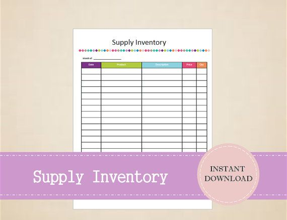 Supply Inventory  Business Planner  Small by MBucherConsulting