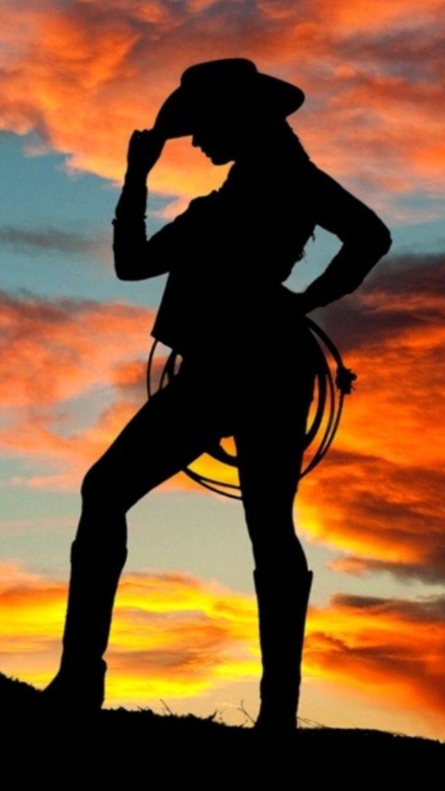 cowgirl silhouette cowgirls pinterest southern girls