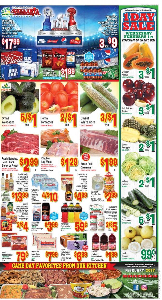 Vallarta Weekly Ad Flyer February 1 - 7, 2017 - http://www.olcatalog.com/grocery/vallarta-weekly-ad-fleyer.html