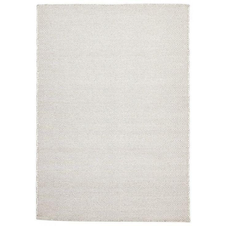 Marstrand is a Nordic style kilim rug. Featuring a natural wool & bleached wool herringbone design, this flatweave rug is...