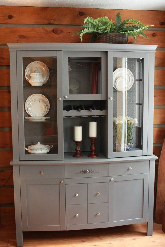 Hand Painted China Cabinet Etsy Listing At Https://www.etsy.com