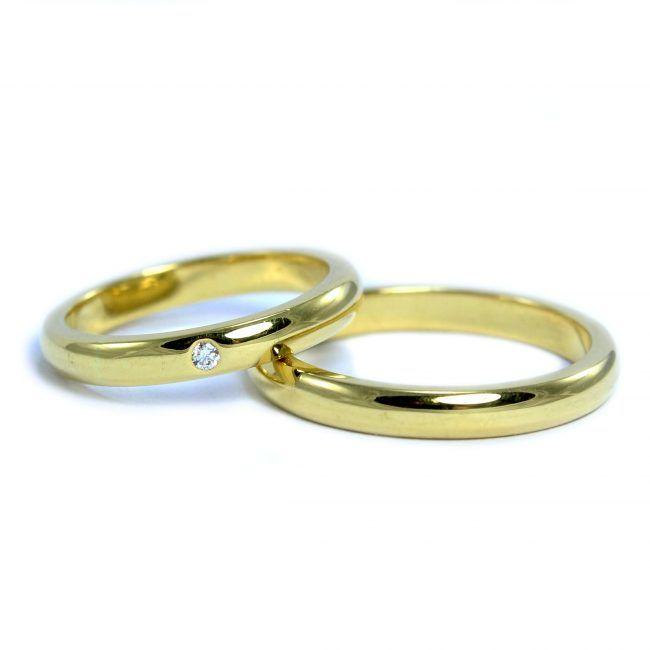 Corte Inglés con Diamante - Argollas de Matrimonio