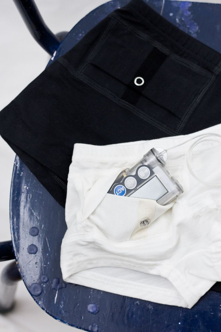 AnnaPS collection / Boxer briefs with short legs and one integrated pocket with button closure for all of your diabetic device storing needs!