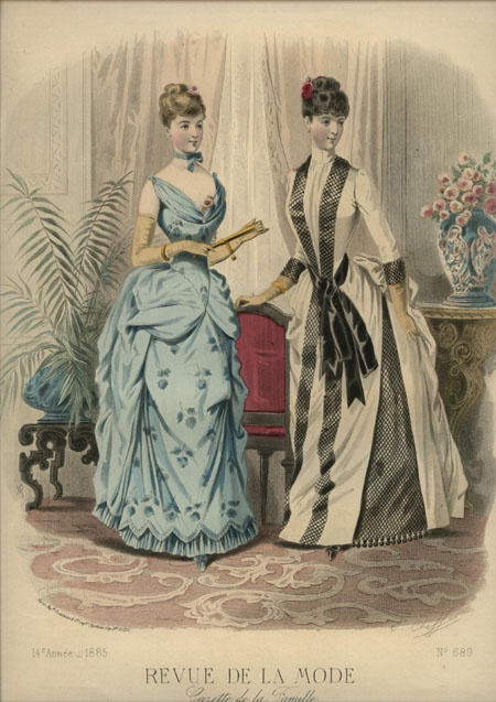 LA REVUE DE LA MODE ... dated March 15, 1885