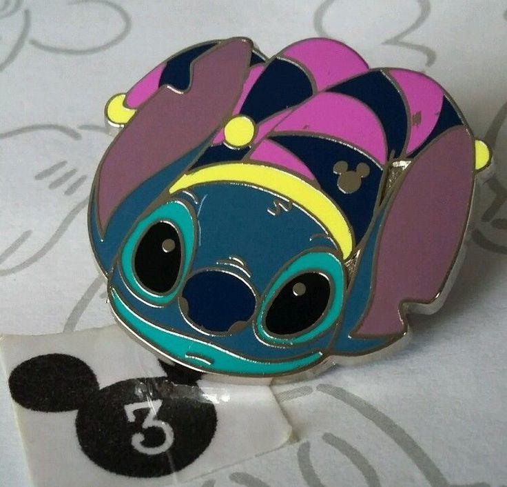 Stitch Mardi Gras Jester Hat 2015 Hidden Mickey Disneyland DLR Disney Pin