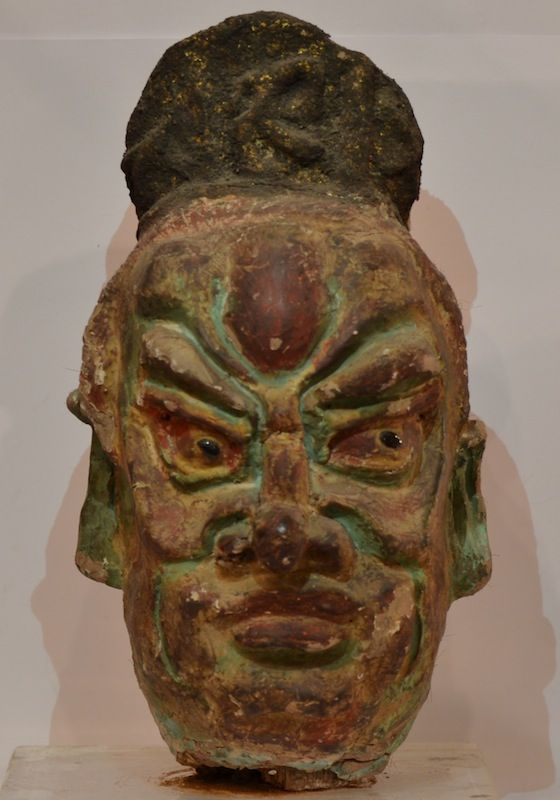 Ancient #stucco theatrical #mask from #China Also available on: @http://www.arte-orientale.com/estremo-oriente/2292/maschera-in-stucco/