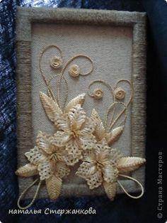 Картина панно рисунок Поделка изделие 8 марта Аппликация Плетение моя соломка Соломка фото 6
