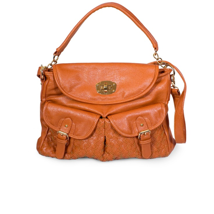 I love the Miztique Double Pocket Woven Satchel from LittleBlackBag