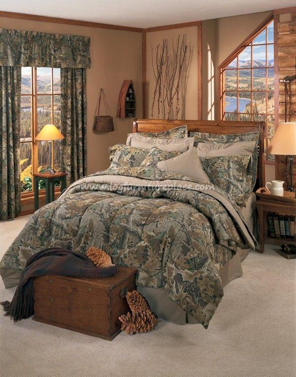 Realtree Advantage Classic Camo Comforter Set - Camouflage bedding- Cabin & Hunting Decor