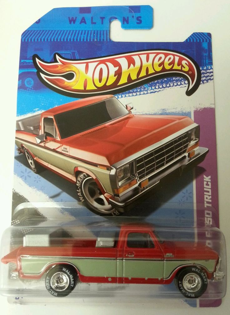 2013 Hot Wheels 1979 Ford F-150 Truck Walmart Exclusive VHTF Real Rider Tires Sam Walton's truck.