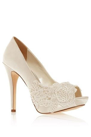 Next Lace Placement Peep-toe   18 Wedding-Ready Shoes from the High Street