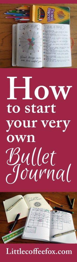 How to Start Your very Own Bullet Journal   Littlecoffeefox.com