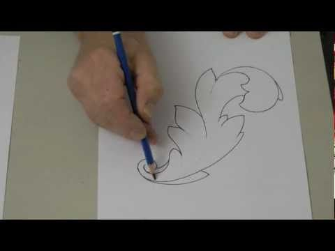 The basics of drawing a stylized acanthus leaf