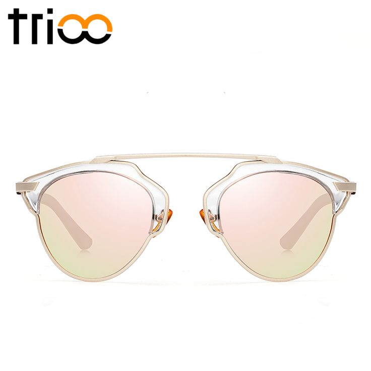 TRIOO Black Cool Cat Eye Women Sunglasses Polarized Luxury Brand Multicolor Oculos Femal UV400 Protection Anti-Glare Glasses