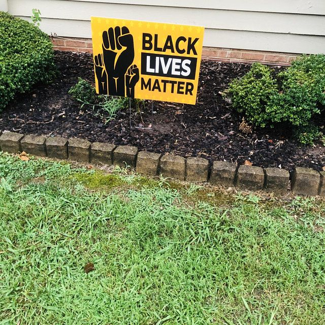 Large 24x18 Black Lives Matter Yard Sign Full Etsy Yard Signs Black Lives Matter Vinyl Banners