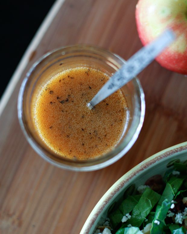 Love this Maple Vinaigrette over a kale salad with sliced apples and cranberries. Recipe via aggieskitchen.com