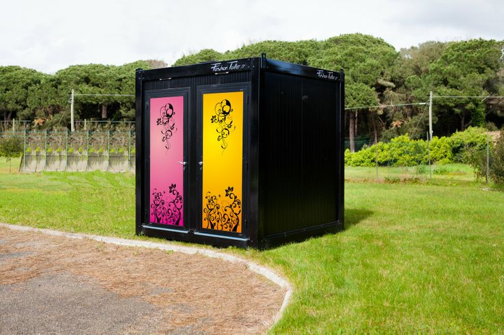 External Cube Colors by Fashion Toilet Design Italy Super Cute Porta Potty! -----------------------------------------------------------------