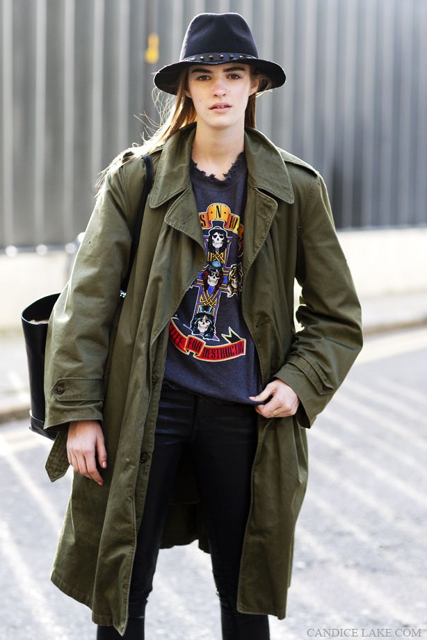 army jacket - trench coat style - coat only!
