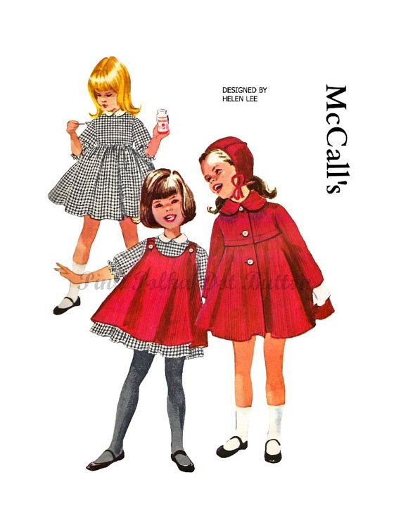 Vintage 1960s McCalls 5982 Designer Helen Lee Girls Winter Coat Pinafore Dress with Hat Sewing Pattern Size 2 on Etsy, $24.26 AUD