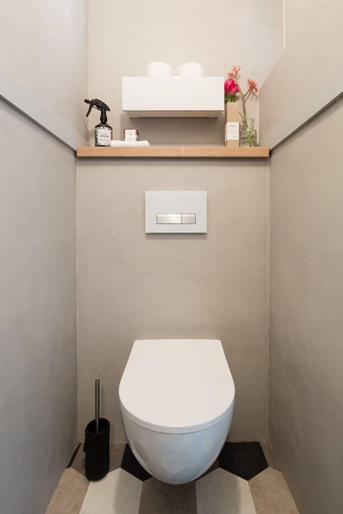 Wc Elegants Modernes Gris Beton Toilet Ruimte Huis