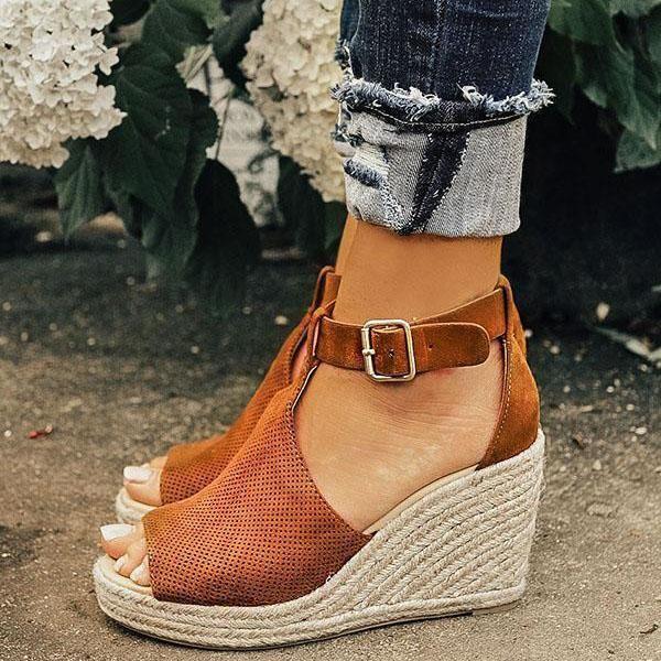 Summer Sandals Zuchic Espadrilles Wedges Espadrilles Chunky Heels Casual