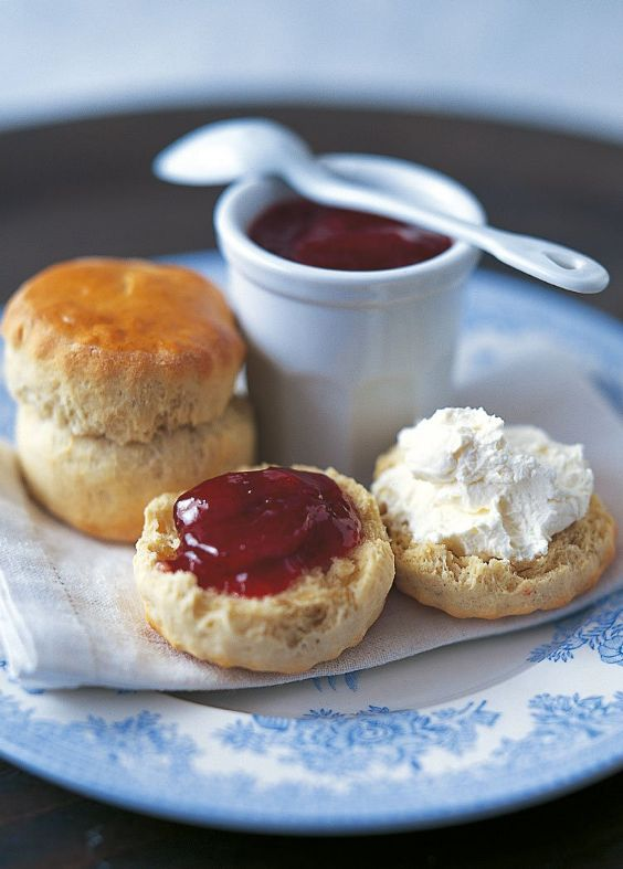 Mary Berry's Homemade Devonshire Scones ~ traditional British tea-time bread ~ serve with jam & clotted cream   recipe via The Telegraph