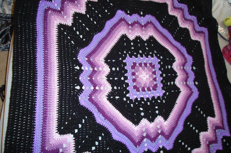 Free Crochet Ripple Afghan Pattern Afghan Multi