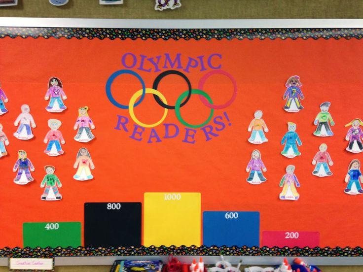 Classroom Olympics Ideas ~ Olympic themed bulletin board program for february s quot i