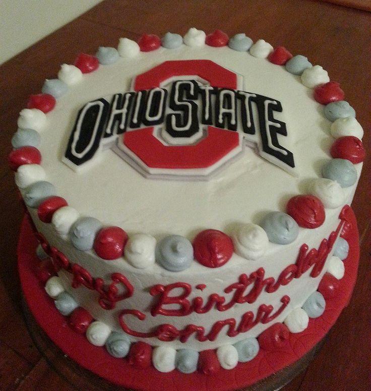 Ohio State Birthday cake