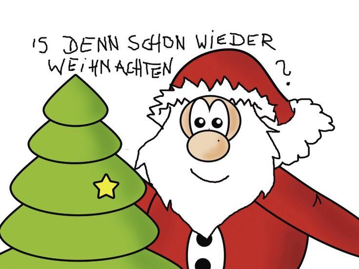 Claudia Burlager: Is denn schon wieder Weihnachten Wandbilder Fun, Cartoons & Comics Weihnachten