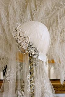 Wedding lace, hat, veil, jewels