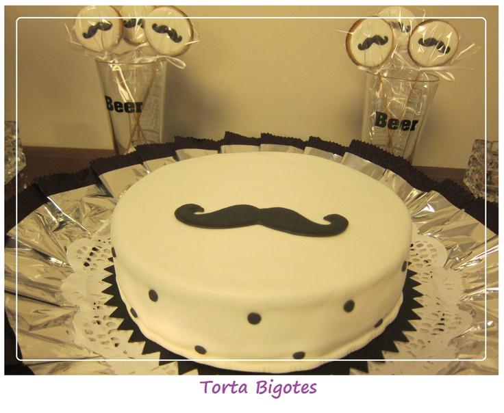 Torta y Chupetines BigoteChupetin Bigotes, Cake, De Bigotes