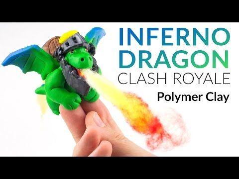 (10) Inferno Dragon (Clash Royale) – Polymer Clay Tutorial - YouTube