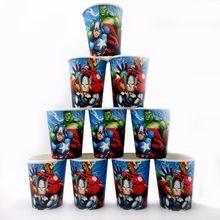 10 unids/lote avengers hulk festival de suministros ducha taza de cartón decoración tema de la fiesta de cumpleaños de dibujos animados para los niños niñas niños azul(China (Mainland))