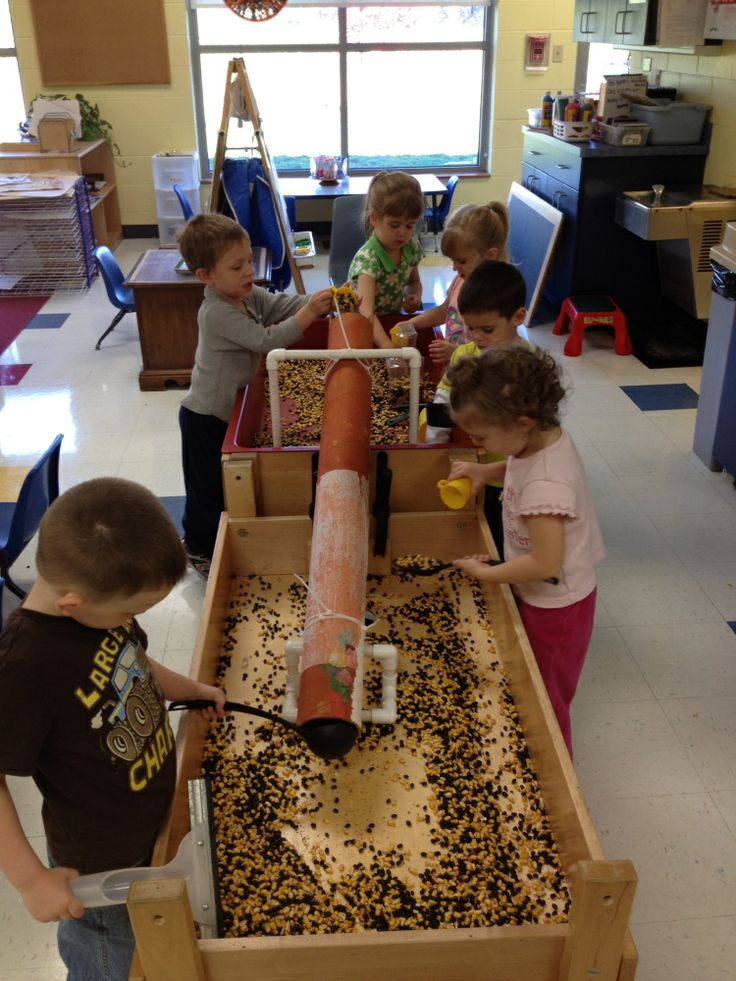 Preschool sensory table in Day Nursery classroom