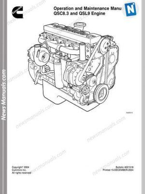 Cummins Engine Qsc8.3 Qsl9 Operation Maintenance Manual