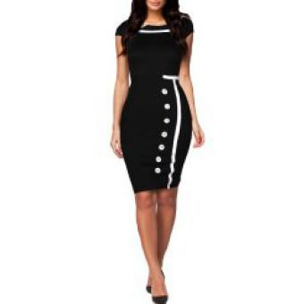 Our dresses are made with the customer\'s satisfaction being of paramount concern. This dress is made from a fine blend of organic cotton,polyester and lycra and it is bound to turn heads and make the lady wearing it the cynosure of all eyes