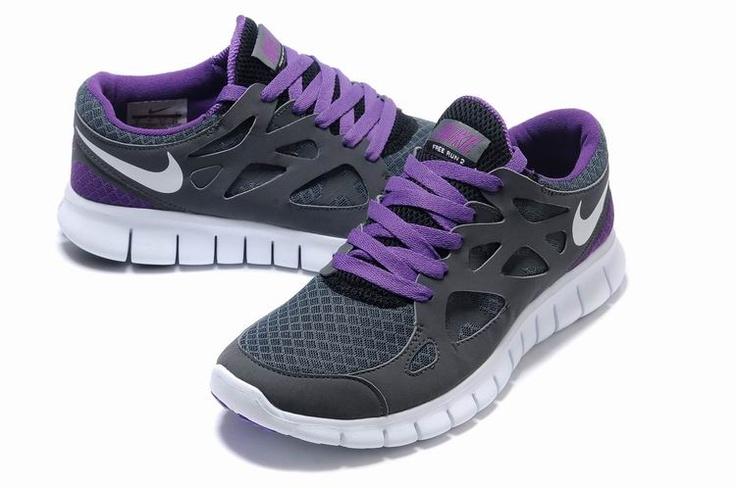 Nike Free Run+ 2 Carbon Gray Purple Shoes