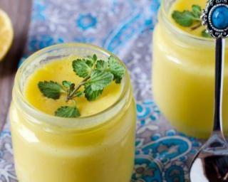 Crèmes légères au citron et menthe