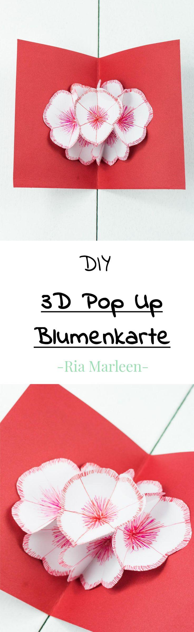 3D Pop Up Blumenkarte Basteln   Schönes DIY Geschenk Aus Papier