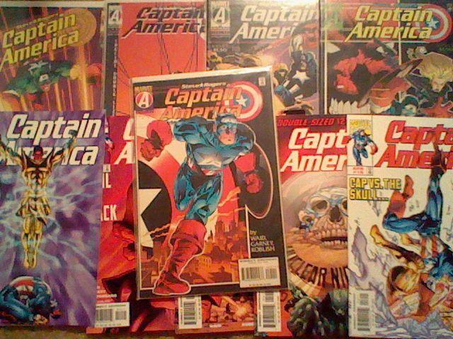 Captain America #445-449,12-16, 1996 Mark Waid / Garney,Red Skull,Marvel lot =)