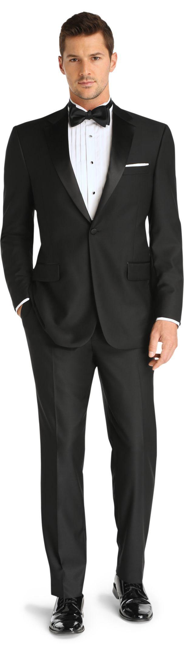 Signature Notch Lapel Tuxedo with Plain Front Trousers