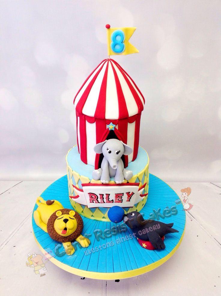 Circus themed cake for childrens birthdays