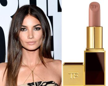#Face #Lips #Makeup Lily Aldridge: lip color is Sable Smoke by Tom Ford