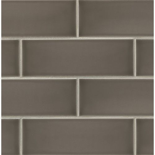 "Kitchen back splash! Found it at Wayfair - Grace 4"" x 12"" Ceramic Subway Tile in Moka"